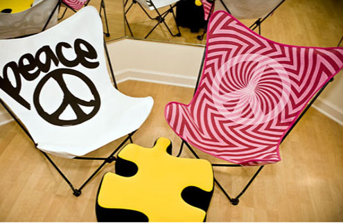 Fold-out chairs for peace and more