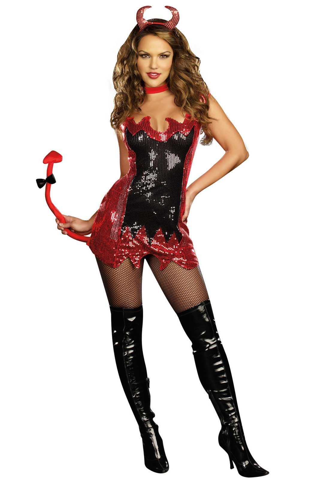 Фото костюма чертика для девушки