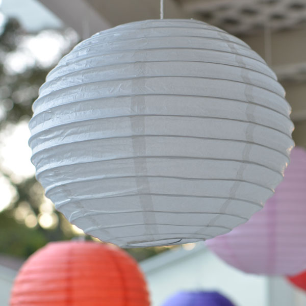 Круглые фонарики из бумаги