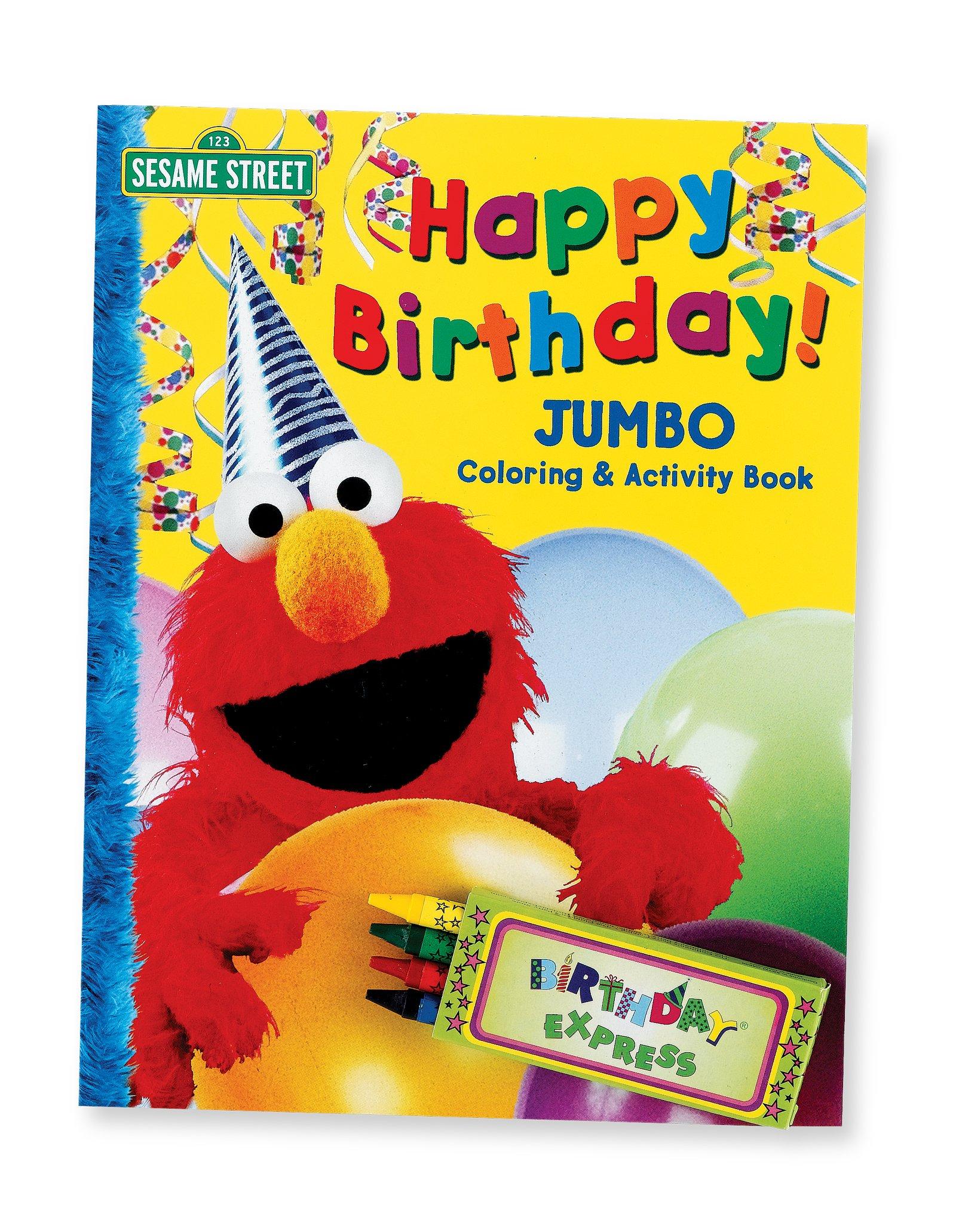 buy cheap elmo happy birthday jumbo coloring book