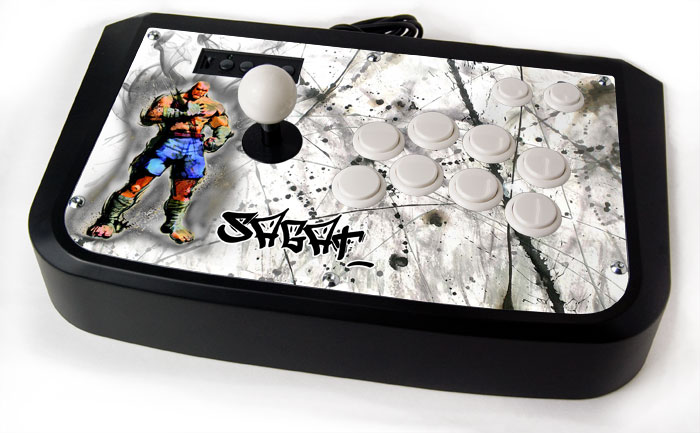 Arcade Stick Skin For Hori Sticks - Solemn Sagat