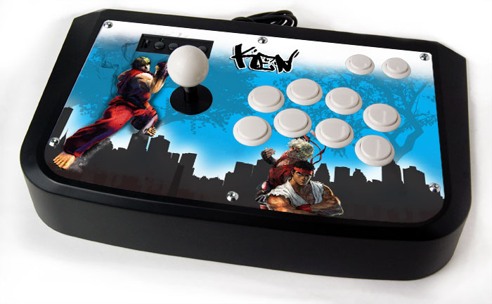Arcade Stick Skin for Hori Sticks - Ken Masters City Skin