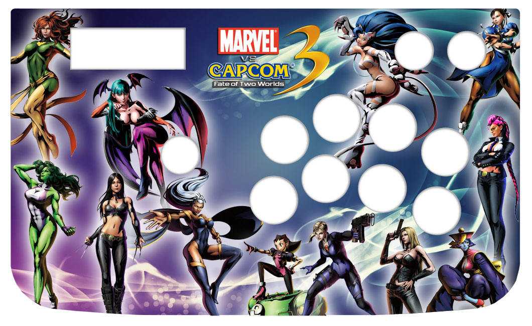 Marvel vs Capcom 3 Girls Custom Arcade Stick Skin for Hori Sticks