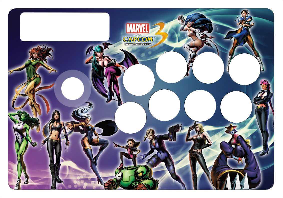 Madcatz TE Girls of MVC 3 Arcade Stick Skin - Custom Designed Arcade