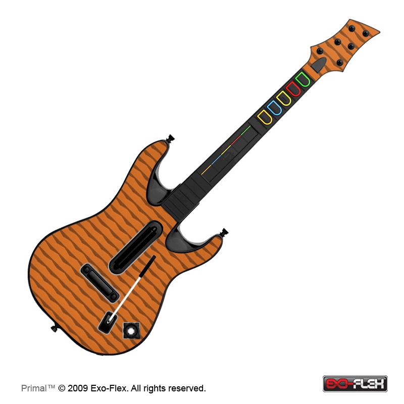 Primal Guitar Hero World Tour Guitar Skin
