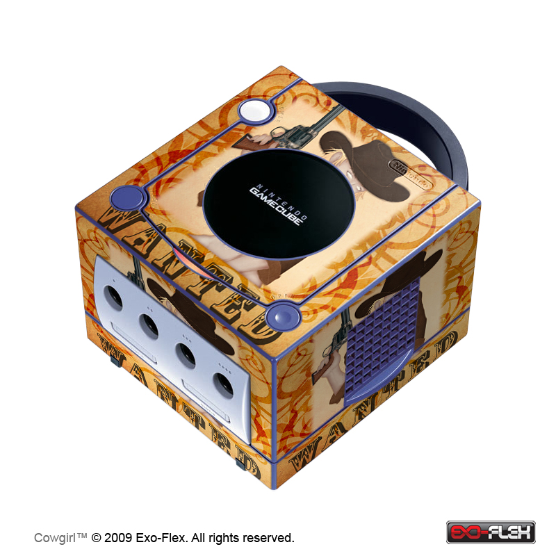 Cowgirl Gamecube Console Skin