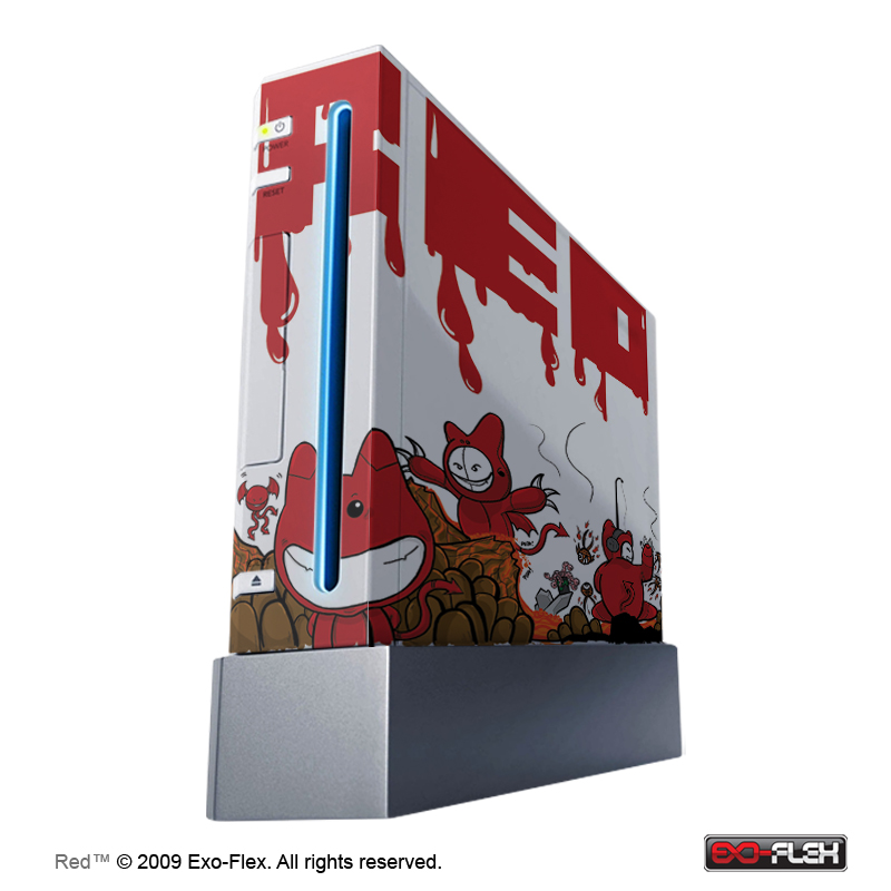 Red WII Console Skin
