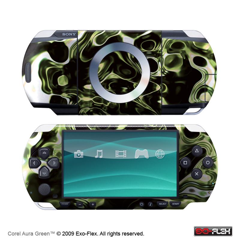Coral Aura Green PSP 1000 Skin