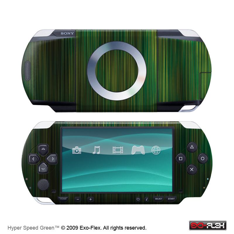Hyper Speed Green PSP 1000 Skin