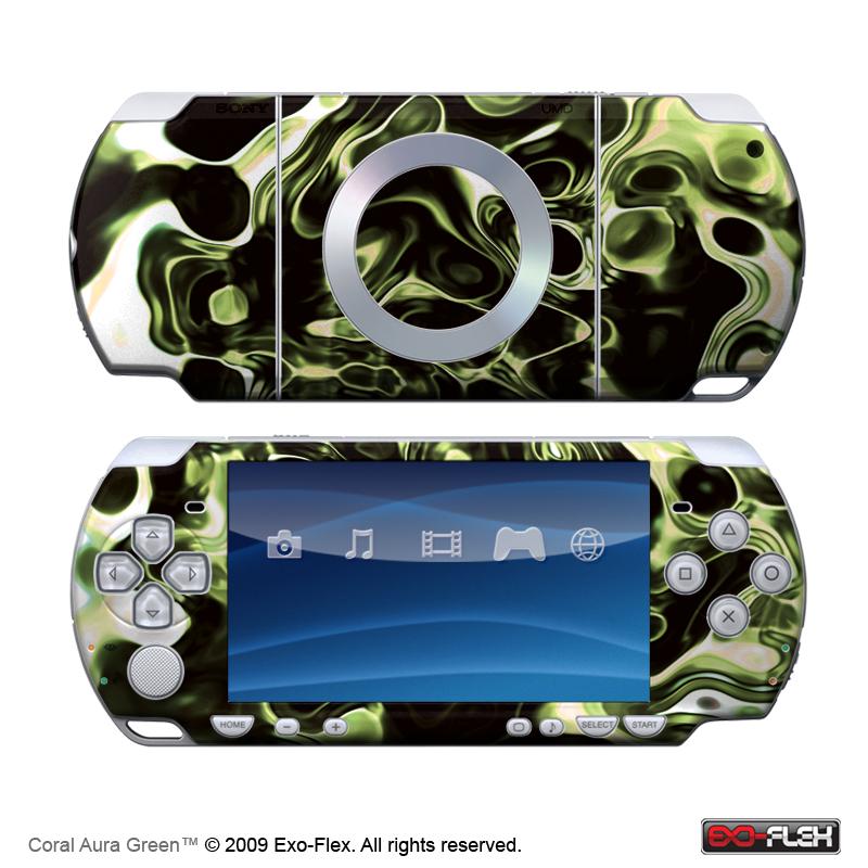Coral Aura Green PSP 2000 Skin