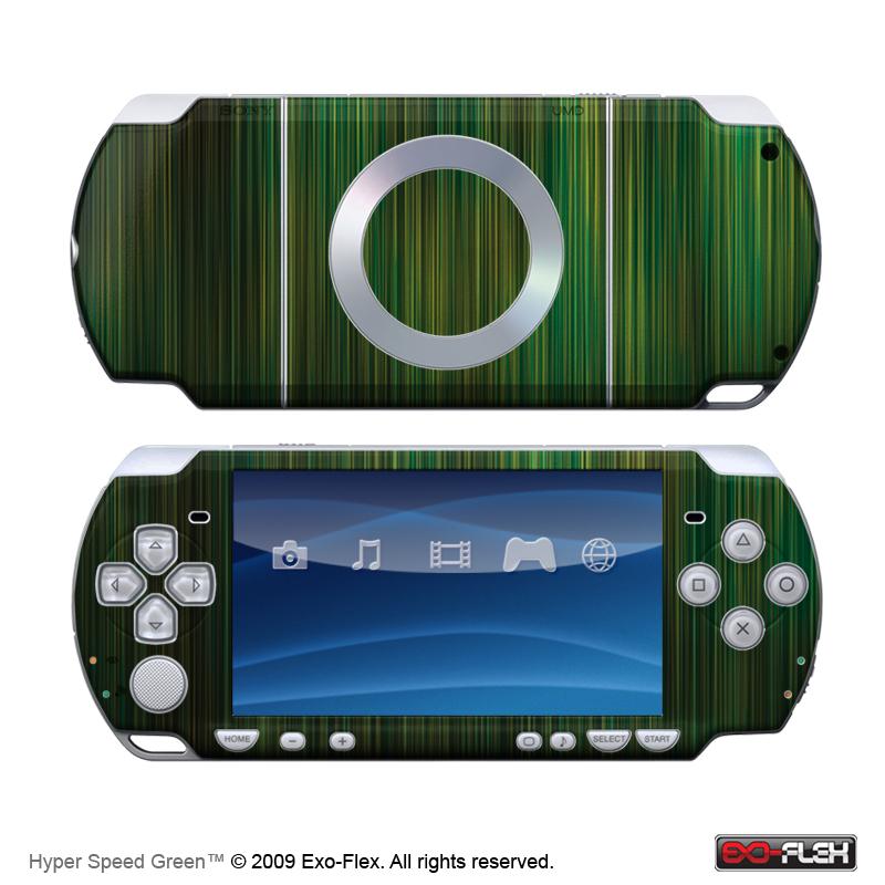 Hyper Speed Green PSP 2000 Skin