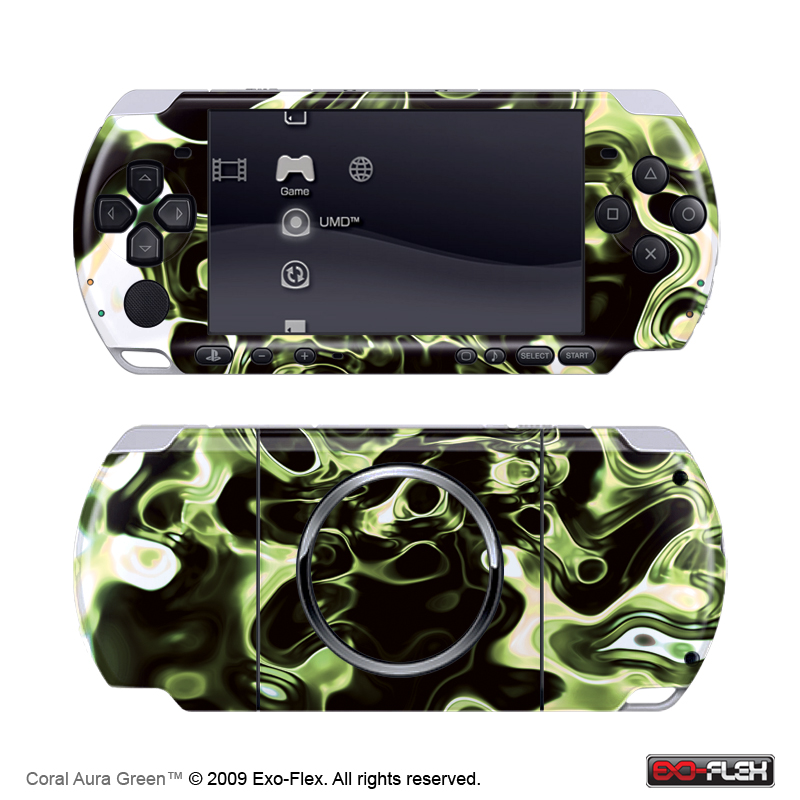 Coral Aura Green PSP 3000 Skin
