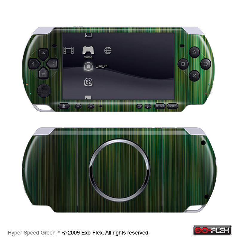 Hyper Speed Green PSP 3000 Skin