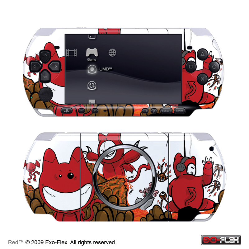 Red PSP 3000 Skin