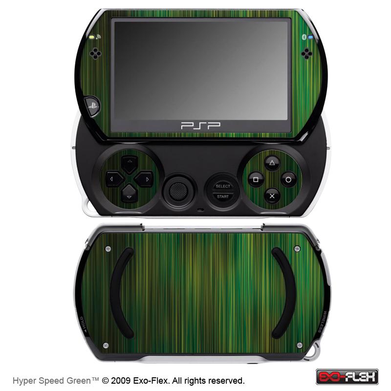 Hyper Speed Green PSP Go Skin