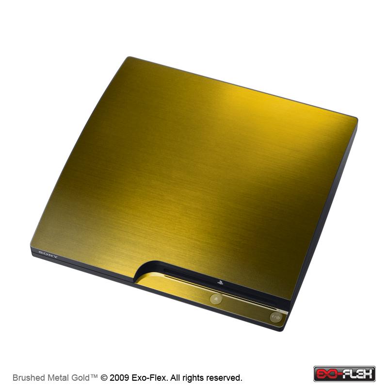 Ps3 super slim skins gold
