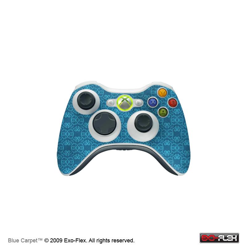 Blue Carpet Xbox 360 Controller Skin