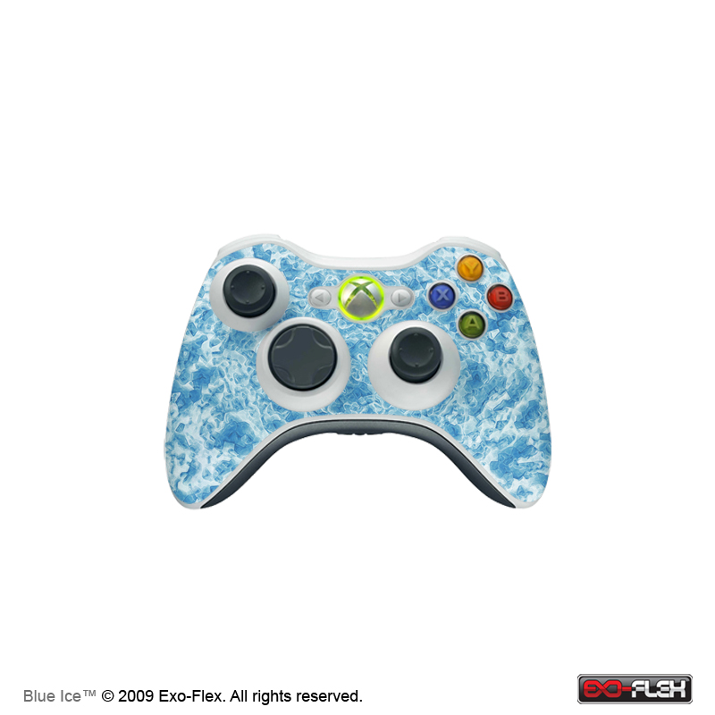 Blue Ice Xbox 360 Controller Skin