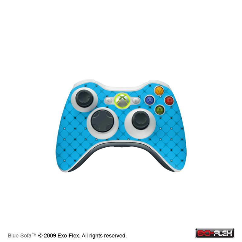 Blue Sofa Xbox 360 Controller Skin