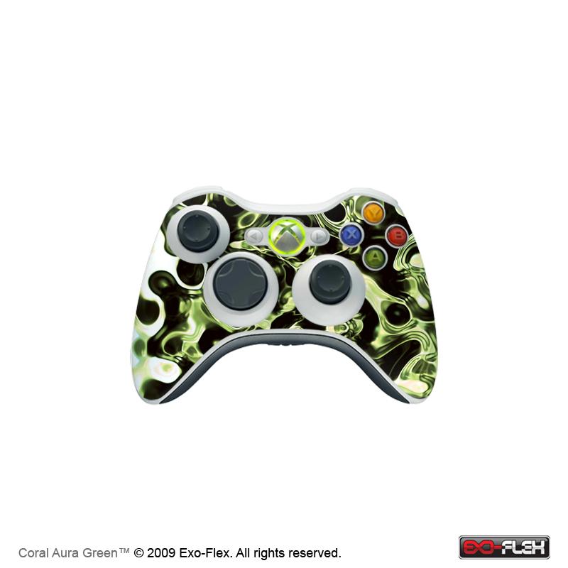 Coral Aura Green Xbox 360 Controller Skin