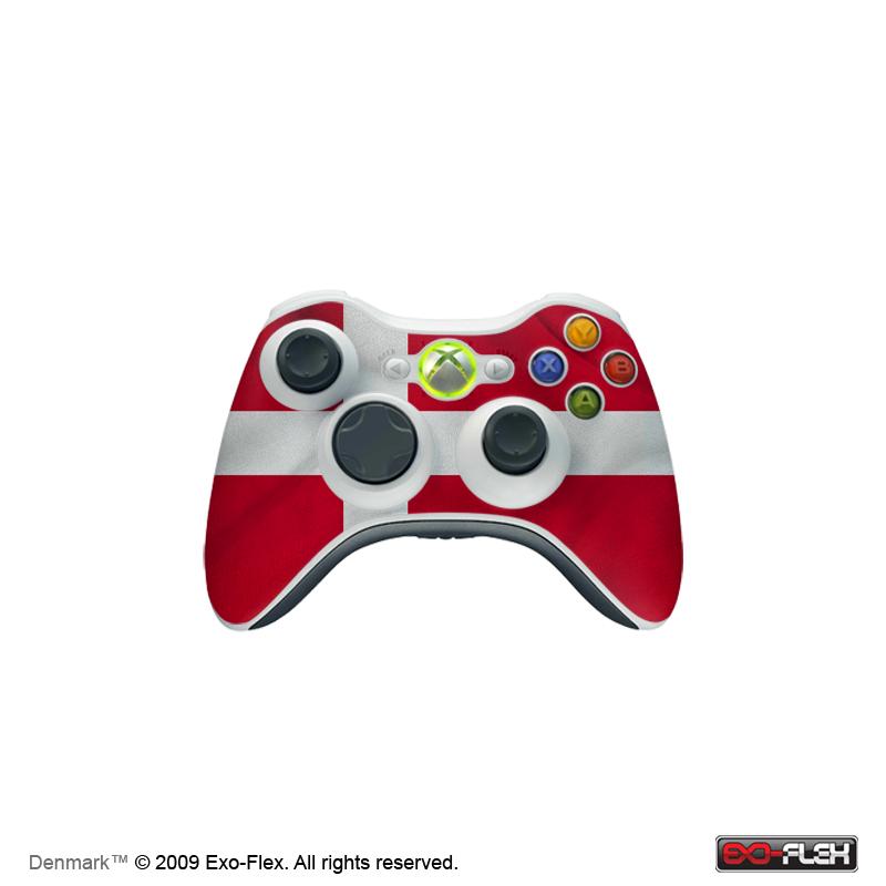 Denmark Xbox 360 Controller Skin