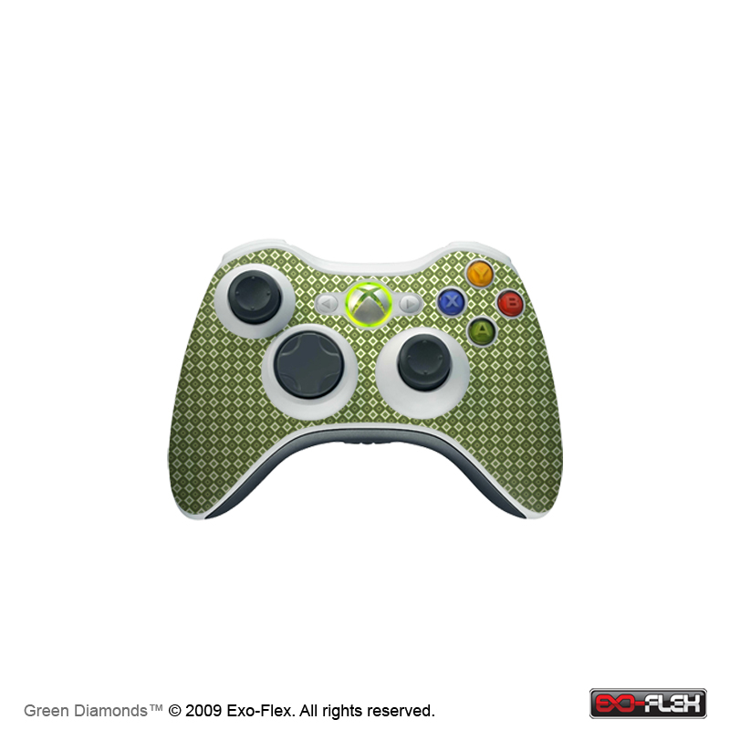 Green Diamonds Xbox 360 Controller Skin