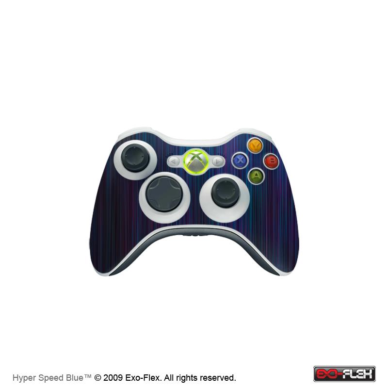 Hyper Speed Blue Xbox 360 Controller Skin