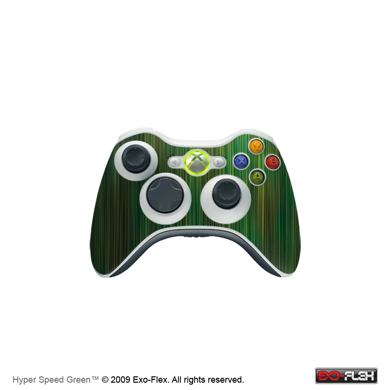 Hyper Speed Green Xbox 360 Controller Skin