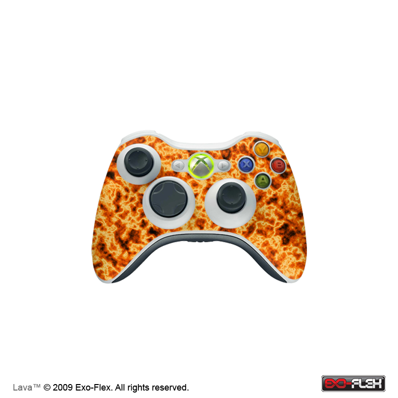 Lava Xbox 360 Controller Skin