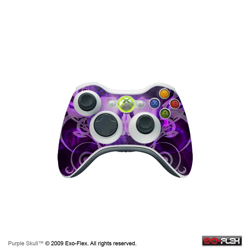 Purple Skull Xbox 360 Controller Skin