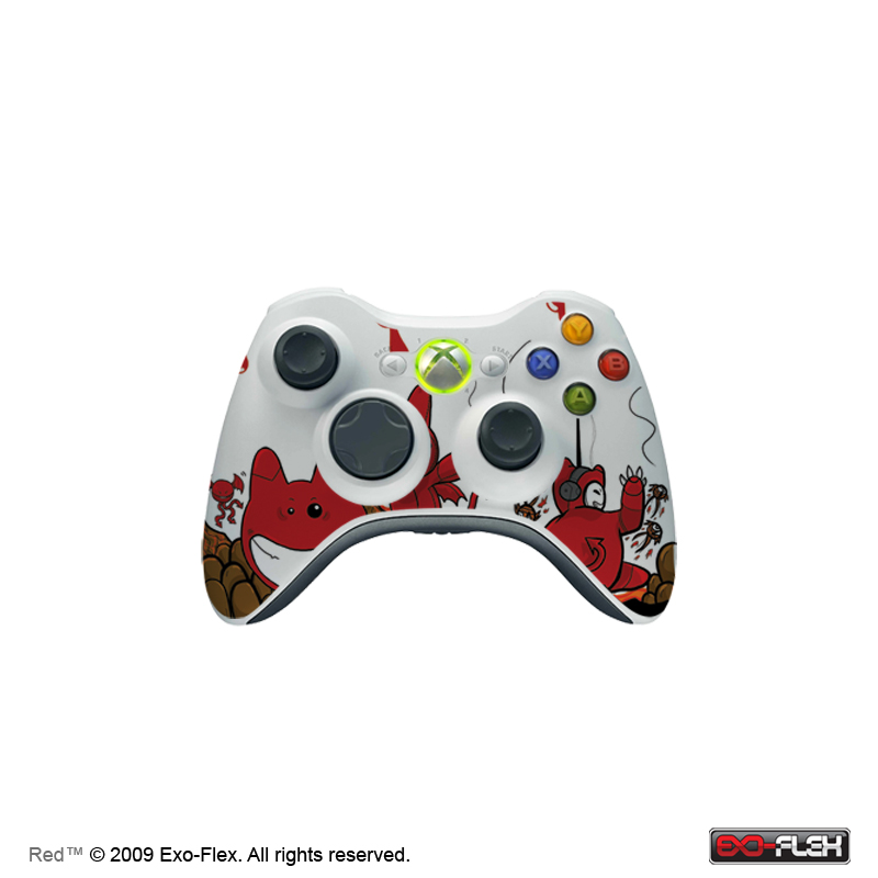 Red XBOX 360 Controller Skin