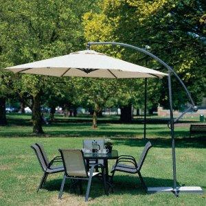 10 Foot Ez Retractable Patio Canopy Umbrella Adjule