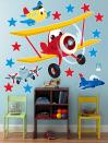 Airplane Adventure Giant Wall Decals - vinyl