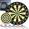 Game Room Dart Set Complete w/6 Darts & Dart Board